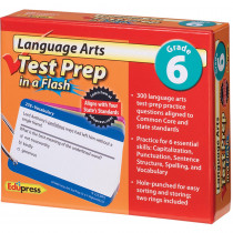EP-3469 - Language Arts Gr 6 Test Prep In A Flash in Language Arts