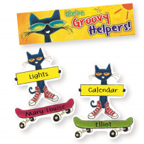 EP-348 - Groovy Classroom Jobs Mini Bulletin Board Set Featuring Pete The Cat in Classroom Theme