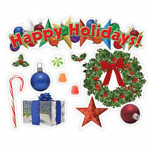 EP-3601 - Happy Holidays Mini Bulletin Board Set in Holiday/seasonal