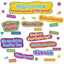 EP-3639 - Multicultural Welcome Mini Bulletin Board Set in Multilingual