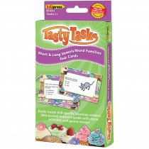 EP-3672 - Short And Long Vowels Word Families Language Arts Tasty Task Cards in Phonics