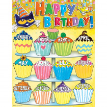 EP-62008 - Pete The Cat Happy Birthday Chart in Classroom Theme