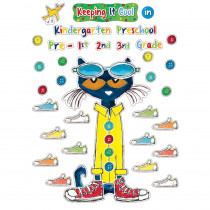 EP-63922 - Pete The Cat Keeping It Cool Bulletin Board Set in Classroom Theme