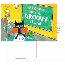 EP-63934 - Pete The Cat Welcome Postcards Groovy Class in Postcards & Pads