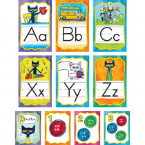 EP-63950 - Pete The Cat Alphabet Bulletin Board Set in Classroom Theme