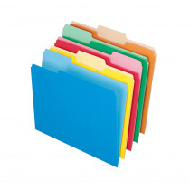 ESS15213ASST - Oxford 100Ct Assort Color Top File Folders in Folders