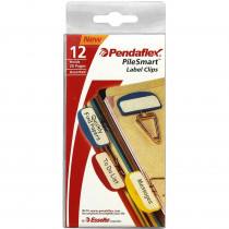 ESS18651 - Pendaflex Pilesmart Label Clips Primary Assorted in Clips