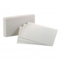 ESS40165 - Oxford Index Cards 5X8 Ruled White 100 Per Pack in Index Cards