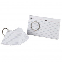 ESS63506 - Oxford Justflip-It Punched & Perfed Study Cards in Index Cards