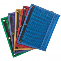 ESS68500 - Oxford Zipper Mesh Binder Pockets 10 1/2 X 7 1/2 in Folders