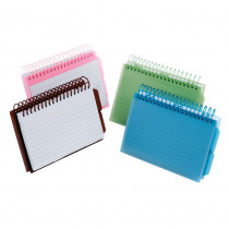 ESS73139 - View Front Spiral Index Cards 4X6 Poly Cover in Index Cards