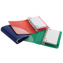 ESS73569 - Oxford Poly Index Card Binder Assorted in Index Cards