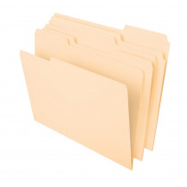 ESS75213 - File Folders Letter 1/3 Cut Tab 100 Ct in Folders