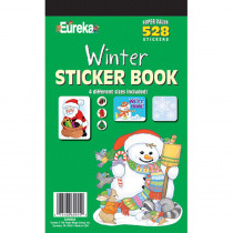 EU-60955 - Sticker Book Winter 528/Pk in Holiday/seasonal