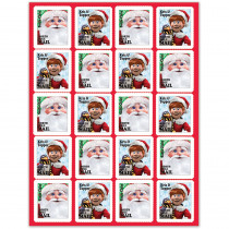 EU-655711 - Santa Comin To Town Stickers in Holiday/seasonal