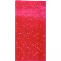 EU-82464 - Stickers Foil Stars 3/4 Inch Red in Stickers