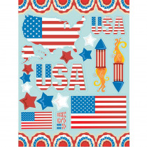 EU-836034 - Us Flags 12 X 17 Window Clings in Window Clings