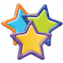 EU-841005 - Stars Assorted Paper Cut Outs Color My World in Accents