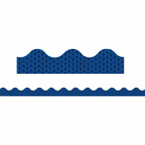 EU-845291 - Plaid Attitude Blue Herringbone Deco Trim in Border/trimmer