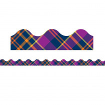 EU-845295 - Plaid Attitude Purple Plaid Deco Trim in Border/trimmer