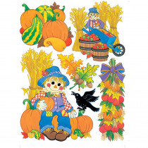 EU-846012 - Window Cling Harvest Scarecrows in Window Clings