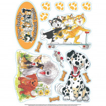 EU-846029 - Wags And Whiskers 12 X 17 Window Clings in Window Clings