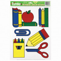 EU-84603 - Window Cling School Tools 12 X 17 in Window Clings