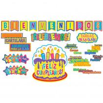 EU-847047 - Spanish Welcomeclass Organization Cmw Bulletin Board Sets in Classroom Theme
