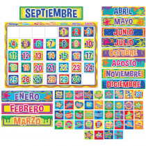 EU-847048 - Color My World Spanish Calendar Bulletin Board Set in Classroom Theme