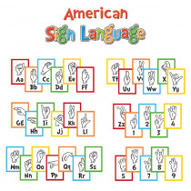 EU-847056 - Dr Seuss Sign Language Alphabet Mni Bulletin Board Set in Classroom Theme