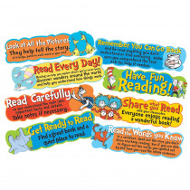 EU-847057 - Dr Seuss Reading Tips Mini Bulletin Board Set in Classroom Theme