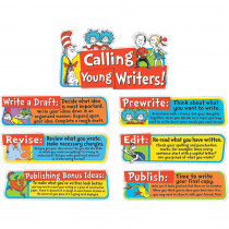EU-847060 - Dr Seuss Writing Tips Mini Bulletin Board Set in Classroom Theme