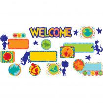 EU-847074 - Dr Seuss Spot On Seuss Welcome Set Mini Bulletin Board Set in Classroom Theme