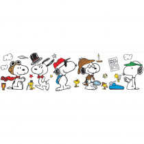 EU-847153 - Peanuts Year Round Snoopy Poses Bulletin Board Set in Classroom Theme