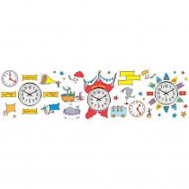 EU-847156 - Dr Seuss - If I Ran The Circus Telling Time Bulletin Board Set in Classroom Theme