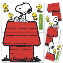 EU-847611 - Giant Character Snoopy & Dog House Bulletin Board Set in Classroom Theme
