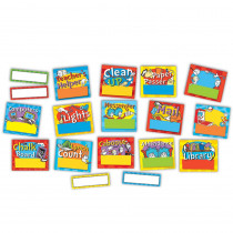 EU-847613 - Dr. Seuss Standard Job Chart Mini Bulletin Board Set in Classroom Theme