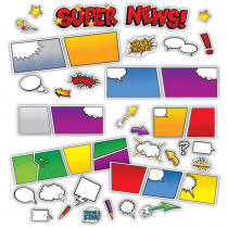 EU-847616 - Super Class Super News Mini Bulletin Board Set in Classroom Theme