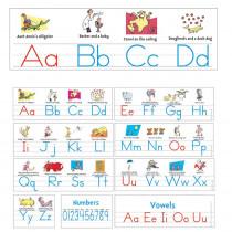 EU-847642 - Dr Seuss Manuscript Alphabet Bulletin Board Set in Language Arts