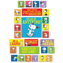 EU-847683 - Peanuts You Can Be Anything Bulletin Board Set in Classroom Theme