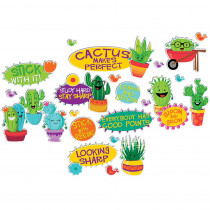 EU-847774 - Sharp Bunch Positive Words Mini Bulletin Board Set in Classroom Theme