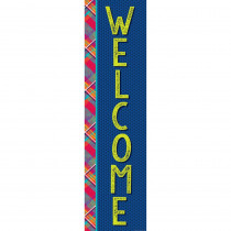 EU-849041 - Plaid Attitude Welcome Banner Vertical in Banners