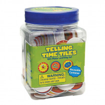 EU-867415 - Tub Of Telling Time Chips Manipulatives in Time