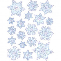 EU-98264 - Window Cling Snowflakes 12 X 17 in Window Clings