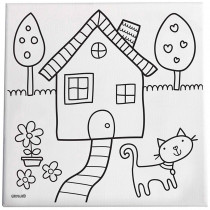 EU-BCK14106 - Home Sweet Home Paint/Create Kit Canvas in Art & Craft Kits