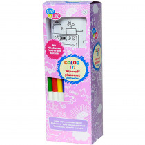 EU-BIM216551 - Yummy Fair Wipe Off Placemat With Markers in Art & Craft Kits
