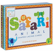 EU-BLC12687 - Safari Shaped Lacing Cards English/Spanish/French in Lacing