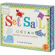 EU-BLC12701 - Set Sail Shaped Lacing Cards English/Spanish/French in Lacing