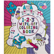 EU-BWCB14582 - Girl 2 Wipe Off Coloring Book in Art Activity Books
