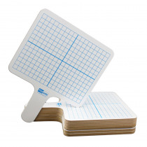 FLP18124 - Rectangle Graph Answer Paddle 12/Pk Dry Erase in Dry Erase Boards